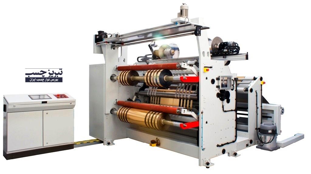 نمونه ای از دستگاه تولید نوارچسب شیشه ای