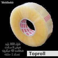 چسب شفاف 5 سانت 45 میکرون 500 یارد TopRoll