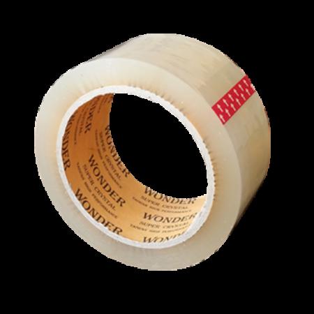 یک کارتن چسب نواری شفاف 5 سانت 90 یارد 45 میکرون Wonder (واندر)