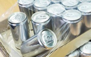 شرینک پلی اتیلن بطری نوشابه فلزی