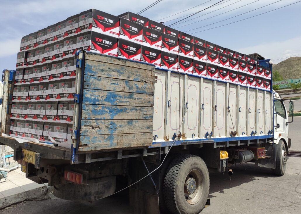 ارسال نوار چسب تاپ ترک با کامیون